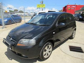 2007 Holden Barina TK Black 5 Speed Manual Hatchback.