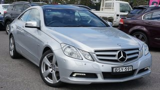 2010 Mercedes-Benz E-Class C207 E250 CGI Elegance Silver 5 Speed Sports Automatic Coupe.