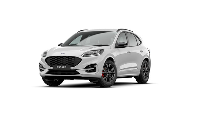 New Ford Escape ZH 2020.75MY ST-Line Parramatta, 2020 Ford Escape ZH 2020.75MY ST-Line Frozen White 8 Speed Sports Automatic SUV