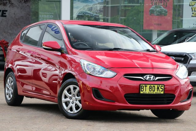 Used Hyundai Accent RB Active, 2012 Hyundai Accent RB Active Red 5 Speed Manual Hatchback