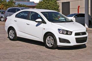 2014 Holden Barina TM MY14 CD White 5 Speed Manual Sedan.