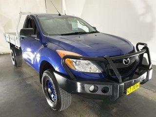 2013 Mazda BT-50 UP0YF1 XT 4x2 Hi-Rider Blue 6 Speed Manual Cab Chassis.