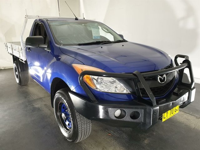 Used Mazda BT-50 UP0YF1 XT 4x2 Hi-Rider Maryville, 2013 Mazda BT-50 UP0YF1 XT 4x2 Hi-Rider Blue 6 Speed Manual Cab Chassis