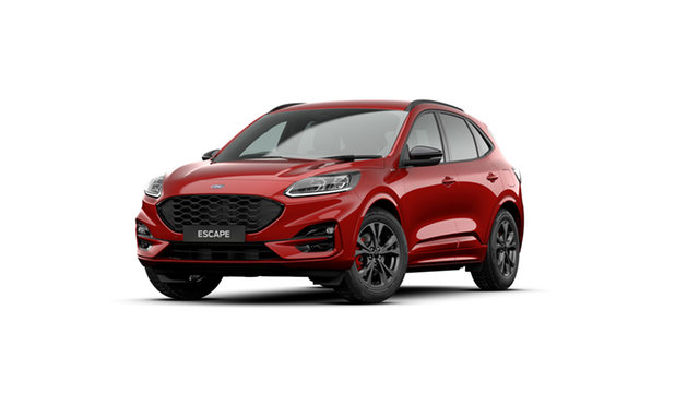 New Ford Escape ZH 2020.75MY ST-Line Newstead, 2020 Ford Escape ZH 2020.75MY ST-Line Lucid Red 8 Speed Sports Automatic SUV