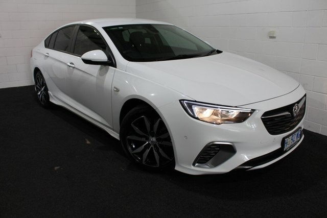 Used Holden Commodore ZB MY18 RS Liftback Glenorchy, 2018 Holden Commodore ZB MY18 RS Liftback Summit White 9 Speed Sports Automatic Liftback
