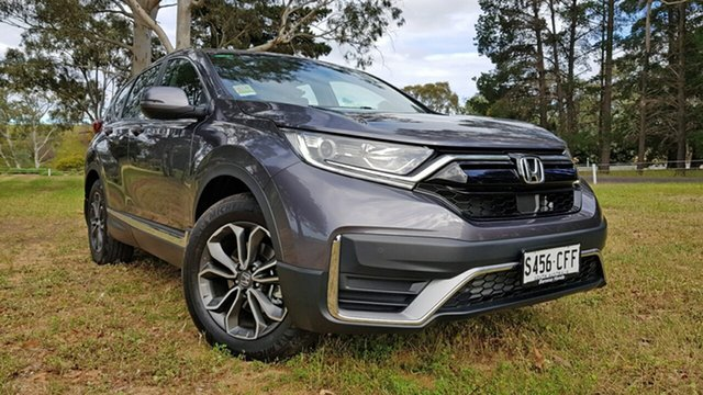 Demo Honda CR-V RW MY21 VTi 4WD L AWD Tanunda, 2020 Honda CR-V RW MY21 VTi 4WD L AWD Modern Steel 1 Speed Automatic Wagon