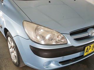 2007 Hyundai Getz TB MY07 SX Blue 4 Speed Automatic Hatchback.