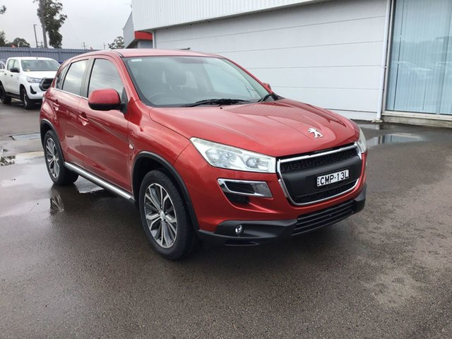 Pre-Owned Peugeot 4008 MY12 Active 2WD Cardiff, 2012 Peugeot 4008 MY12 Active 2WD Red 5 Speed Manual Wagon