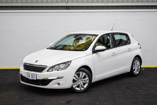 2016 Peugeot 308 T9 Active White 6 Speed Sports Automatic Hatchback.