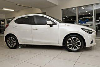2014 Mazda 2 DJ2HAA Genki SKYACTIV-Drive White 6 Speed Sports Automatic Hatchback.