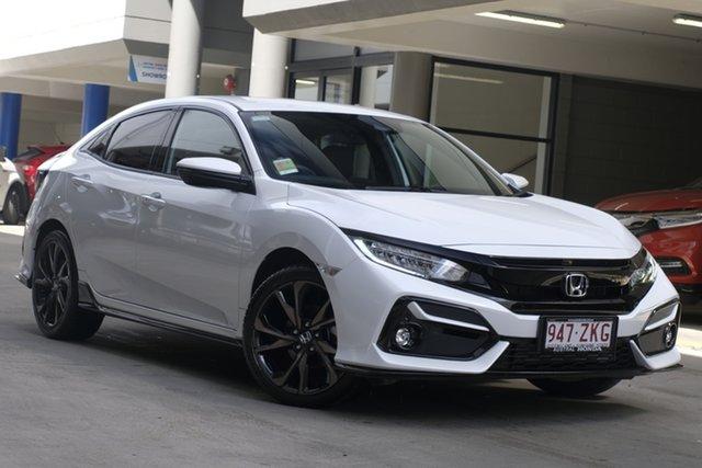 Demo Honda Civic 10th Gen MY20 RS, 2020 Honda Civic 10th Gen MY20 RS Platinum White 1 Speed Constant Variable Sedan
