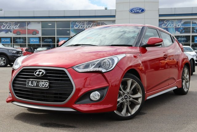 Used Hyundai Veloster FS4 Series II SR Coupe D-CT Turbo, 2016 Hyundai Veloster FS4 Series II SR Coupe D-CT Turbo Red 7 Speed Sports Automatic Dual Clutch