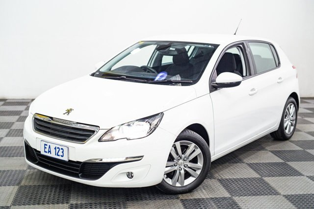Used Peugeot 308 T9 MY18 Active Edgewater, 2017 Peugeot 308 T9 MY18 Active White 6 Speed Automatic Hatchback