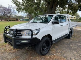 2018 Toyota Hilux GUN126R SR Double Cab Glacier White 6 Speed Sports Automatic Cab Chassis