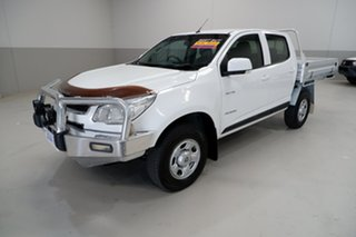 2013 Holden Colorado RG MY13 LX Crew Cab 4x2 White 6 Speed Sports Automatic Cab Chassis.