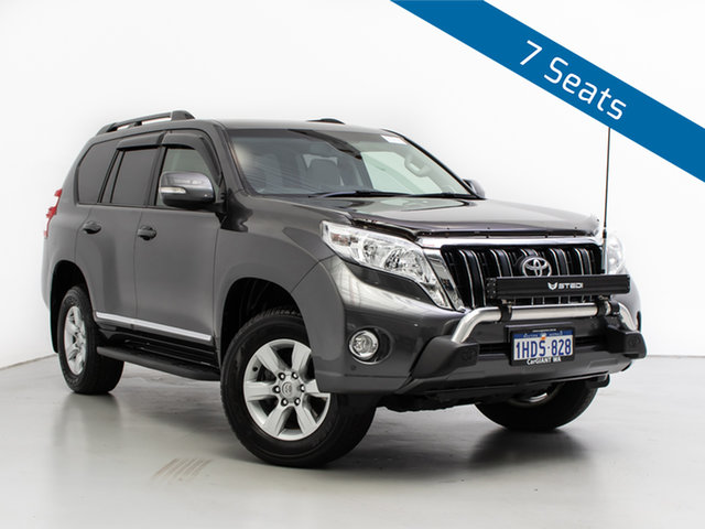 Used Toyota Landcruiser Prado KDJ150R MY14 Altitude (4x4), 2014 Toyota Landcruiser Prado KDJ150R MY14 Altitude (4x4) Grey 5 Speed Sequential Auto Wagon