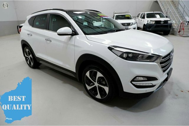 Used Hyundai Tucson TLe MY17 Highlander D-CT AWD Kenwick, 2017 Hyundai Tucson TLe MY17 Highlander D-CT AWD White 7 Speed Sports Automatic Dual Clutch Wagon
