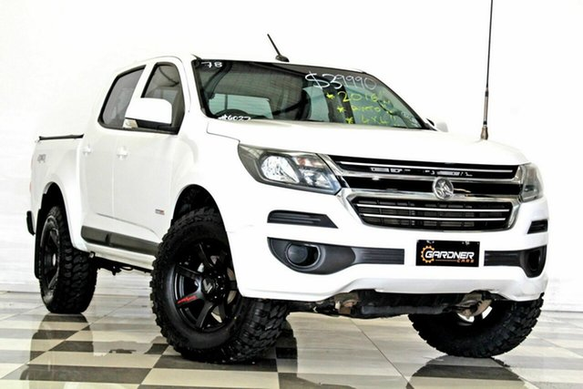 Used Holden Colorado RG MY17 LS (4x4), 2016 Holden Colorado RG MY17 LS (4x4) White 6 Speed Automatic Crew Cab Pickup