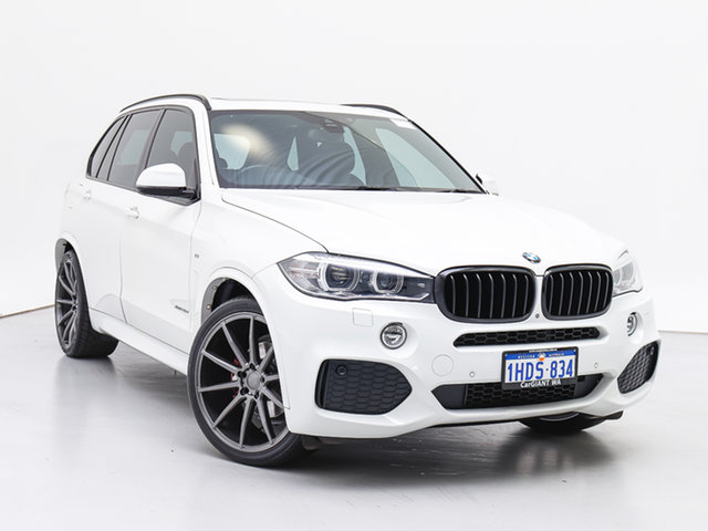 Used BMW X5 F15 MY15 xDrive 30D, 2015 BMW X5 F15 MY15 xDrive 30D White 8 Speed Automatic Wagon