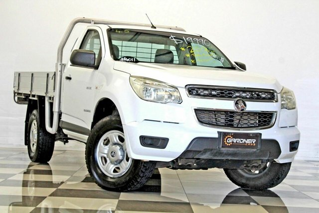 Used Holden Colorado RG DX (4x2), 2013 Holden Colorado RG DX (4x2) White 5 Speed Manual Cab Chassis