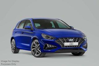 2020 Hyundai i30 PD.V4 MY21 Elite Intense Blue 6 Speed Sports Automatic Hatchback