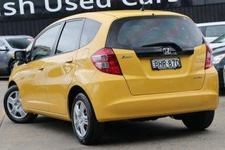 2008 Honda Jazz GE GLi Yellow 5 Speed Automatic Hatchback.