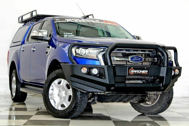 Used Ford Ranger PX MkII XLT 3.2 (4x4), 2016 Ford Ranger PX MkII XLT 3.2 (4x4) Blue 6 Speed Automatic Double Cab Pick Up