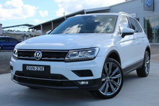 2017 Volkswagen Tiguan 5NA MY18 162 TSI Sportline Pure White 7 Speed Auto Direct Shift Wagon.