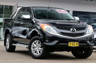 2015 Mazda BT-50 UR0YF1 GT Black 6 Speed Sports Automatic Utility.