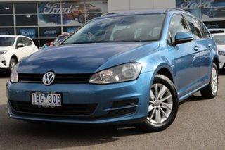 2014 Volkswagen Golf VII MY14 90TSI DSG Blue 7 Speed Sports Automatic Dual Clutch Wagon.