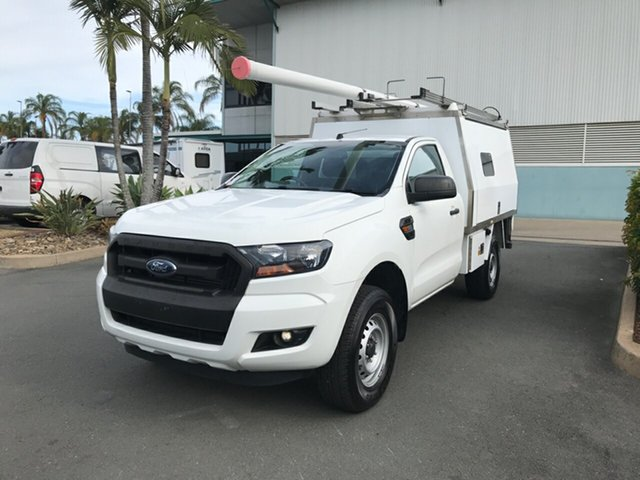 Used Ford Ranger PX MkII XL Hi-Rider, 2016 Ford Ranger PX MkII XL Hi-Rider Cool White 6 speed Automatic Cab Chassis