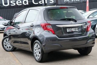 2016 Toyota Yaris NCP130R Ascent Grey 5 Speed Manual Hatchback.