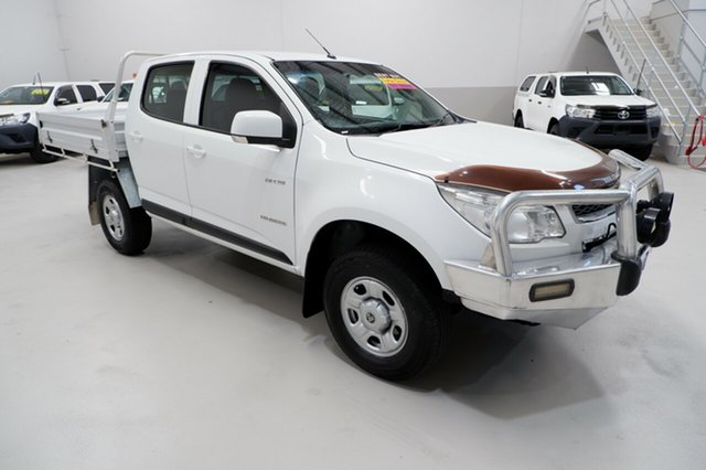 Used Holden Colorado RG MY13 LX Crew Cab 4x2, 2013 Holden Colorado RG MY13 LX Crew Cab 4x2 White 6 Speed Sports Automatic Cab Chassis