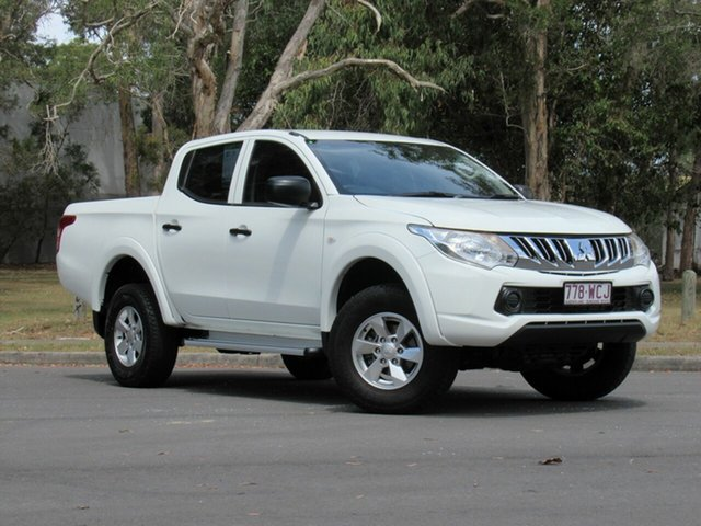 Used Mitsubishi Triton MQ MY16 GLX Double Cab, 2015 Mitsubishi Triton MQ MY16 GLX Double Cab White 5 Speed Sports Automatic Utility