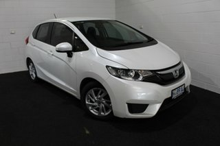 2017 Honda Jazz GF MY17 VTi White 5 Speed Manual Hatchback.