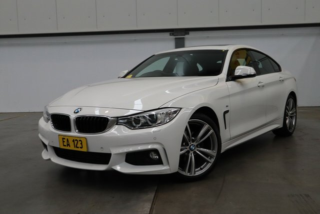 Used BMW 4 Series F36 420i Gran Coupe M Sport Castle Hill, 2016 BMW 4 Series F36 420i Gran Coupe M Sport White 8 Speed Sports Automatic Hatchback