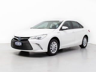 2016 Toyota Camry AVV50R MY15 Altise Hybrid White Continuous Variable Sedan.