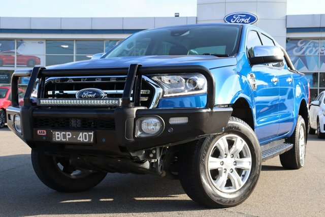 Used Ford Ranger PX MkIII 2019.75MY XLT Hi-Rider, 2019 Ford Ranger PX MkIII 2019.75MY XLT Hi-Rider Blue 10 Speed Sports Automatic Double Cab Pick Up