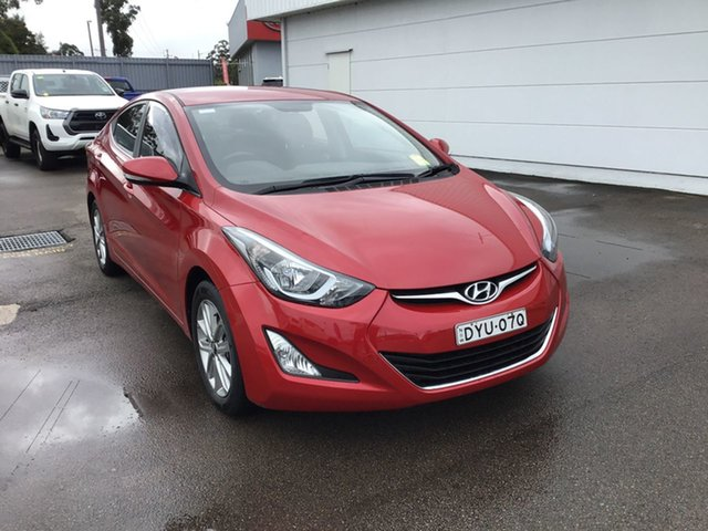 Used Hyundai Elantra MD3 Trophy Cardiff, 2014 Hyundai Elantra MD3 Trophy Red 6 Speed Manual Sedan