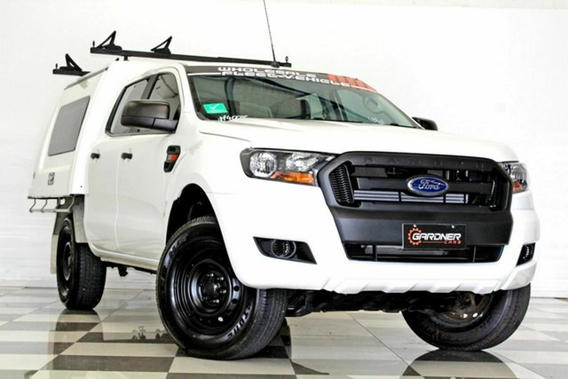 Used Ford Ranger PX MkII XL 3.2 (4x4) Burleigh Heads, 2016 Ford Ranger PX MkII XL 3.2 (4x4) White 6 Speed Automatic Crew Cab Chassis