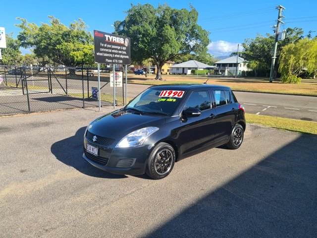 Used Suzuki Swift FZ GL Ingham, 2012 Suzuki Swift FZ GL Black Automatic Hatchback