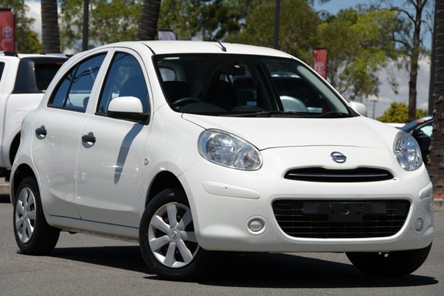 Used Nissan Micra K13 MY13 ST North Lakes, 2013 Nissan Micra K13 MY13 ST White 4 Speed Automatic Hatchback