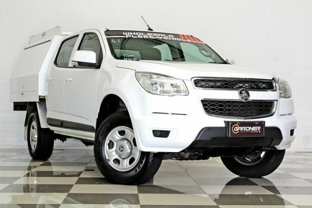 Used Holden Colorado RG MY16 LS (4x2), 2015 Holden Colorado RG MY16 LS (4x2) White 6 Speed Automatic Crew Cab Chassis