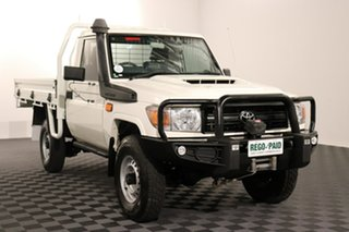 2016 Toyota Landcruiser VDJ79R Workmate White 5 speed Manual Cab Chassis.