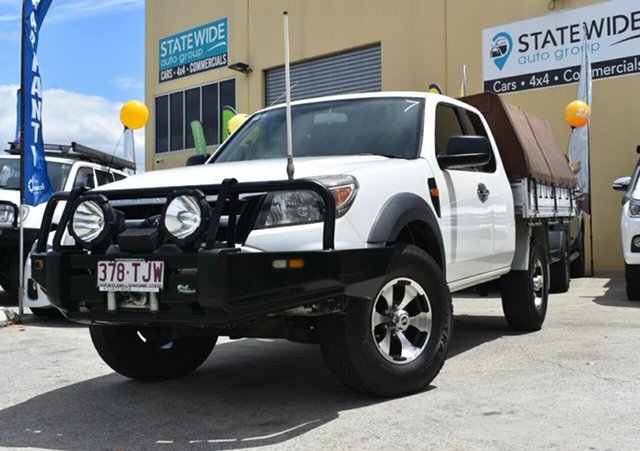 Used Ford Ranger PJ 07 Upgrade XL (4x4) Capalaba, 2009 Ford Ranger PJ 07 Upgrade XL (4x4) White 5 Speed Manual Super Cab Utility
