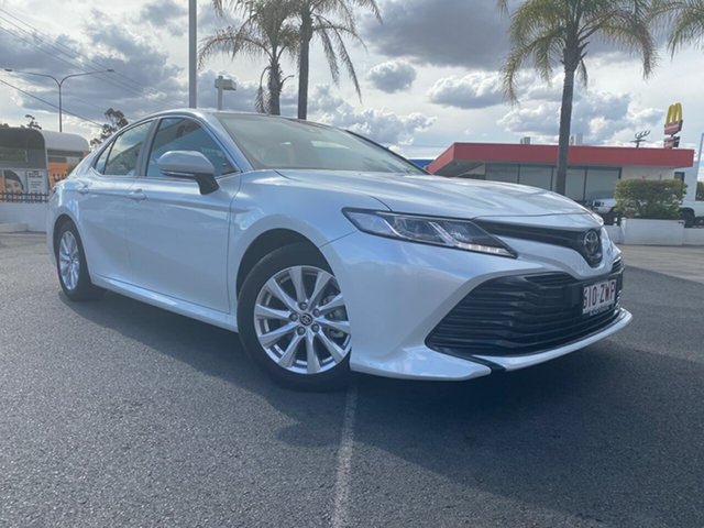 Demo Toyota Camry ASV70R Ascent Dalby, 2020 Toyota Camry ASV70R Ascent Frosted White 6 Speed Sports Automatic Sedan