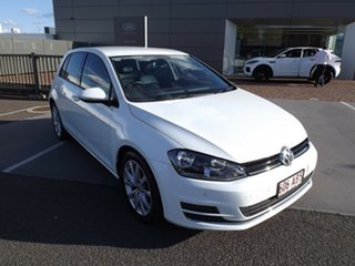 2012 Volkswagen Golf VII 110TDI DSG Highline White 6 Speed Sports Automatic Dual Clutch Hatchback.