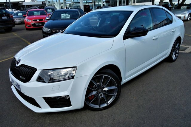 Used Skoda Octavia NE MY16 RS Sedan DSG 162TSI Seaford, 2015 Skoda Octavia NE MY16 RS Sedan DSG 162TSI White 6 Speed Sports Automatic Dual Clutch Liftback