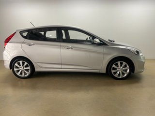 2017 Hyundai Accent RB5 Sport Silver 6 Speed Automatic Hatchback.