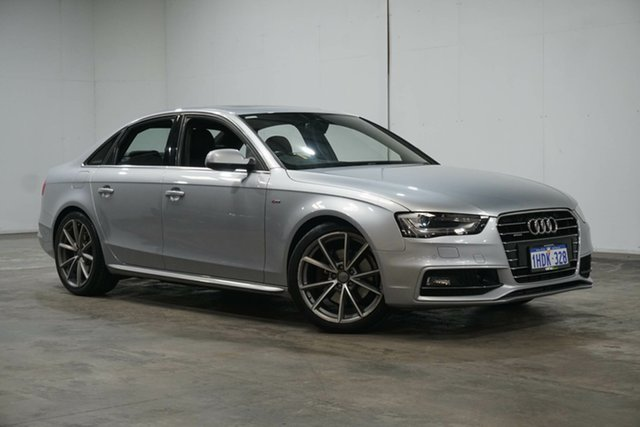 Used Audi A4 B8 8K MY15 S Line S Tronic Quattro Welshpool, 2015 Audi A4 B8 8K MY15 S Line S Tronic Quattro Florett Silver 7 Speed Sports Automatic Dual Clutch